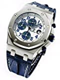 Audemars Piguet Royal Oak Offshore Blue Leather Strap Mens Watch 26170STOOD305CR01