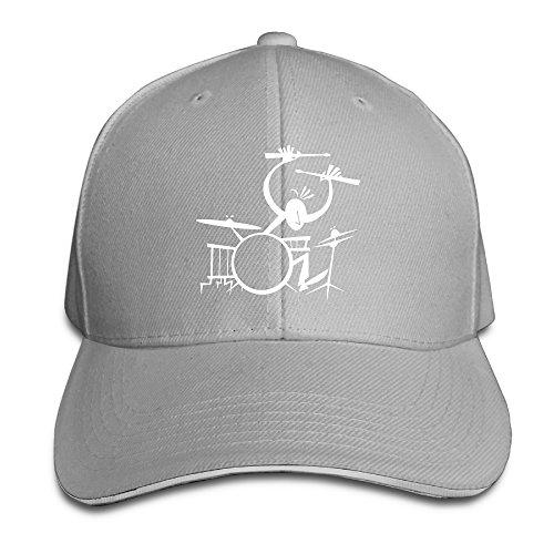 Price comparison product image Printed Drummer Music Instruments Cool Visor Hats Sandwich Cap