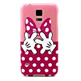 Galaxy S5 Case, Firefish Ultra Slim Soft Flexible TPU Clear [Bumper] Anti-Slip [Shock Absorption] Scratch-Resistant Cover for Samsung Galaxy S5 - Pink