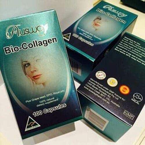 3X AUSWAY BIO COLLAGEN MARINE SKIN ACNE AGING WRINKLE SMOOTH&SOFT HEALTHY