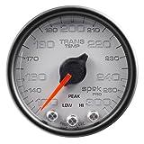 Auto Meter P34222 Gauge, Trans Temp, 2 1/16'', 300ºf, Stepper Motor W/Peak & Warn, Slvr/Blk, Spek-Pro