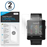Garmin Vivoactive Screen Protector, BoxWave® [ClearTouch Crystal (2-Pack)] HD Film Skin - Shields From Scratches for Garmin Vivoactive