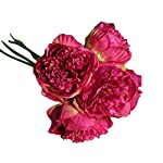 ChainSee-5-Head-Artificial-Silk-Peony-Flowers-Bridal-Bouquet-Home-Wedding-Decor-H