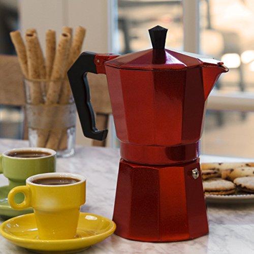 Buy epoca pere-3306 stovetop espresso 6cup red