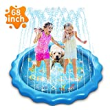 """Sprinkler & Splash Pad for Kids, 68"""" Splash Play Mat Water Toy for Toddlers , Outdoor Water Mat Toys, Baby Infant Wading Swimming Pool Party Outdoor Water Toy for Girls Boys"""