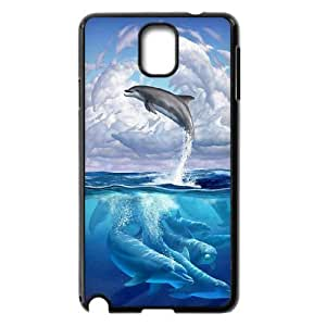 Dolphin Shell Phone for samsung galaxy note3 Black Cover Phone Case