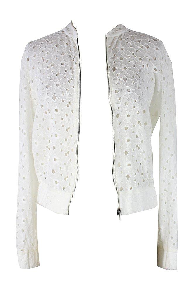 b30e7d0f0 Amazon.com: Bcx Juniors Off White Lace Bomber Jacket M: Clothing