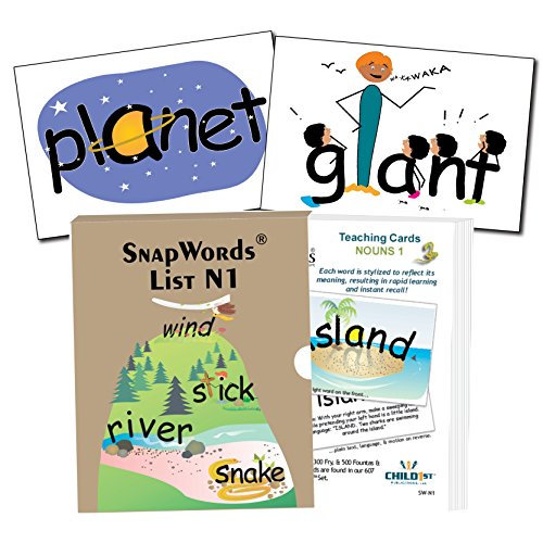 Snapwords Nouns 1 Teaching Sight Word (Picture Noun Cards)