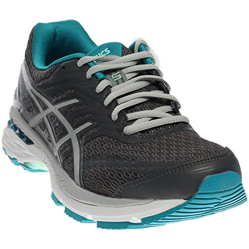 ASICS Women's GT-2000 5 Running-Shoes, Carbon/Silver/Arctic Aqua, 8.5 Medium US