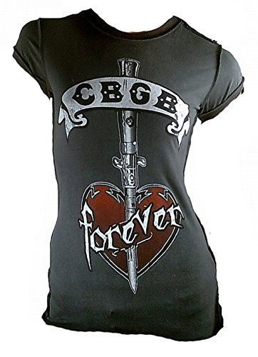 antracite ufficiale Vintage donna Club Grigio Star Amplified Musica Vip di Merchandise Cbgb da Outdoor Stitching Rockstar New live Tatuaggio T Rock Lady Shirt Antracite York CqvY8wqxRI