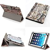 Universal 8 Inch Pu Leather Folding Folio Case Cover (8co) for FNF Ifive Mx 8 Inch/ FNF Ifive Mini 3gs 7.85'' / FNF Ifive Mini4 7.9 Inch (Camouflage Camo Flag Realtree Mossy Oak Hunting)
