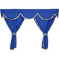 Cortinas azules 24/7Auto + decoraciones para camiones SCANIA