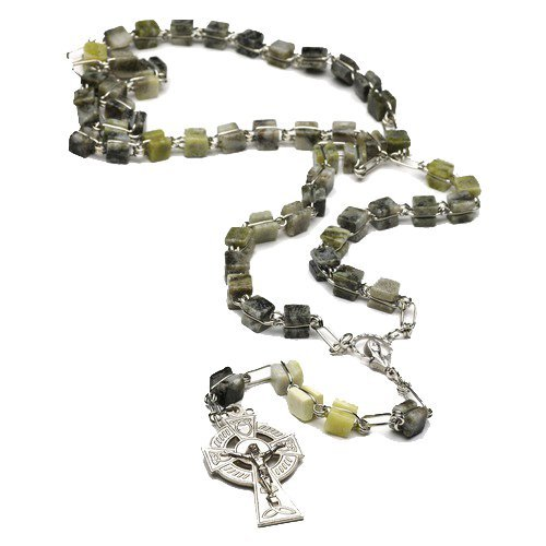 Irish Connemara Marble Rosary Prayer Beads Handcrafted in Ireland by J.C.Walsh & Sons - Irish Connemara Marble