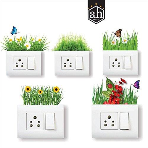AH Decals Home Décor Wall Sticker Beautiful Natural Beauty Switch Board Pannel Fridge Sticker for...
