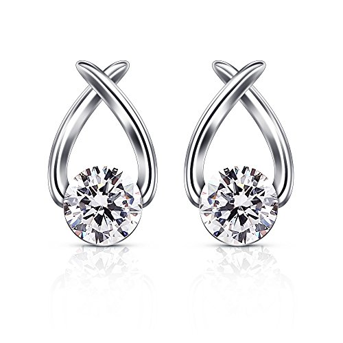 0901fdb4c B.Catcher Stud Earrings Cubic Zirconia 925 Sterling Silver Cute Fish Earring  Studs Women Jewellery Gifts