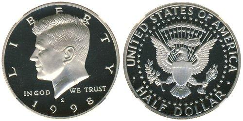 1998 S Kennedy Silver Proof Half Dollar PF-1 US Mint (Dollar Half Proof Kennedy)