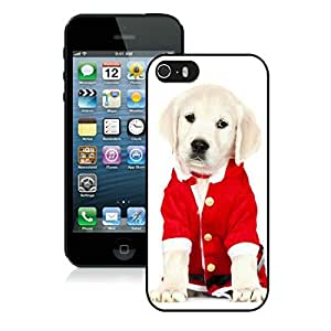 Provide Personalized Customized Iphone 5S Protective Cover Case Christmas Dog iPhone 5 5S TPU Case 39 Black
