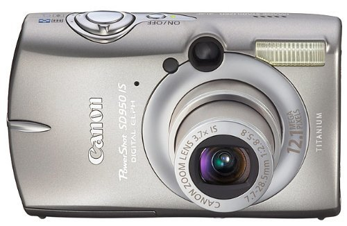 Canon PowerShot SD950IS 12.1MP Digital Camera with 3.7x Optical Image Stabilized Zoom (Sd900 Memory Card)