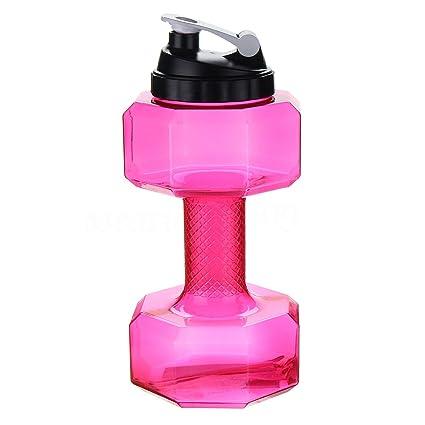 chtdz Mancuernas de plástico con Forma de Pesas DE 2,2 litros, Gran Capacidad