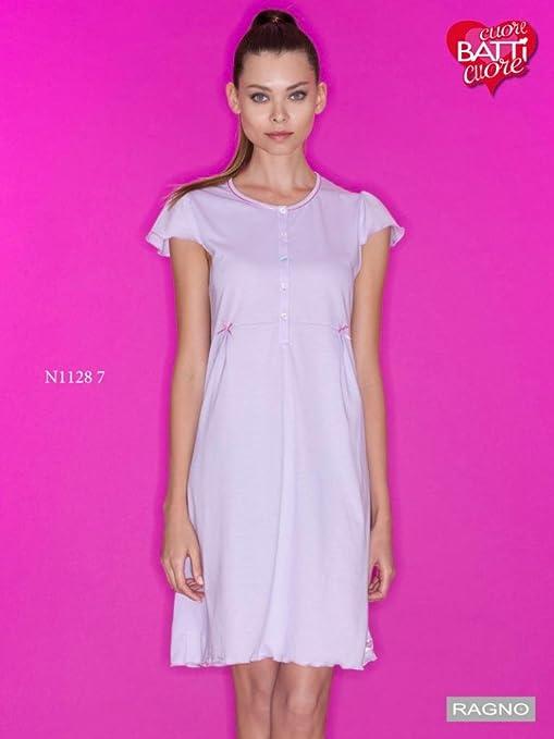 a basso prezzo 3fe04 9d52e RAGNO Camicia da notte linea Cuore&Batticuore maniche corte ...