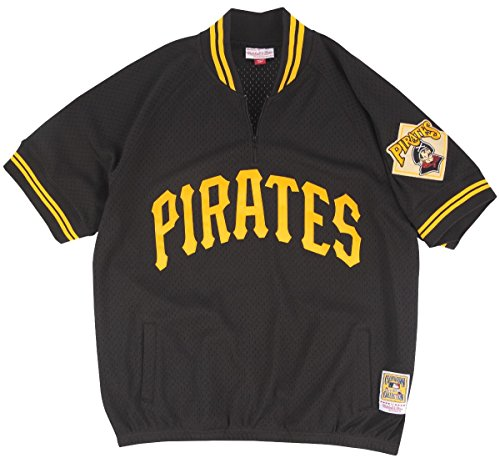 Pittsburgh Pirates Mitchell & Ness MLB Authentic 1/4 Zip 1991 Warm-Up Jacket