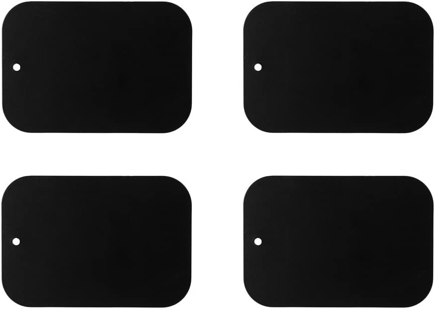 Replacement Sticky Dash,MOMU Replacement Metal Rectangular Magnetic Plate Sticker for Phone Mount Holder 4Pcs