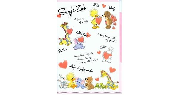 Carpeta archivador blanco rosa A4 5 apartados Suzy Zoo ...
