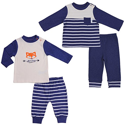 Asher and Olivia Twin Baby Boys' Pants-Shirts Sets