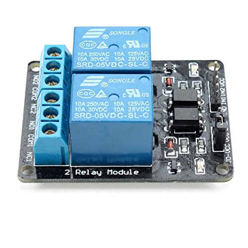 QOJA 2 way relay module with optocoupler protection by QOJA (Image #1)
