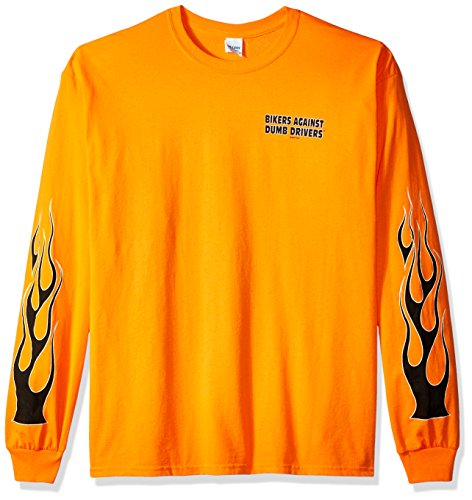 Against Dumb Drivers Long Sleeve T-Shirt (Safety Orange, X-Large) ()