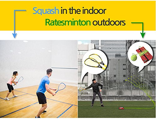DNDmall Ratesminton Squash Starter Set ( Sports Outdoor RACQUETBALL TENNIS SQUASH BADMINTON This Equipment allows you to Exercise alone or with your Friend Sports Training Equipment) by DNDmall (Image #3)