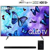Samsung-QN75Q6FN 75 Q6FN Smart 4K Ultra HD QLED TV (2018) Bundle with Samsung-HWN650 5.1CH Soundbar - QN75Q6F QN75Q6 75Q6F 75Q6