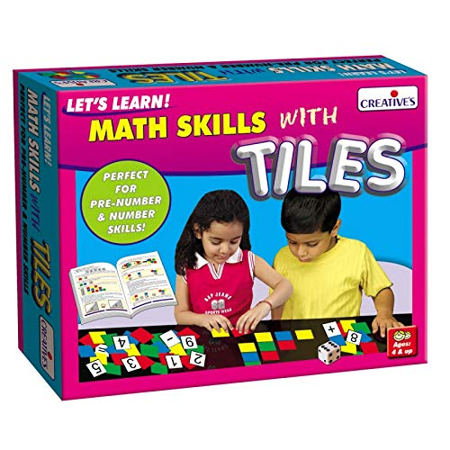 Creative Pre-School - Let's Learn Math Skills with Tiles - (CRE0943) Creative Educational