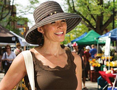 Wallaroo Women's Breton Sun Hat - UPF 50+ - Packable, Ivory