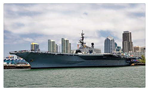Aircraft carrier California San Diego USS Midway Army Cities travel sites Postcard Post card