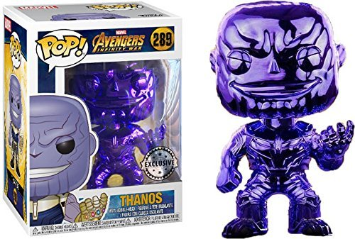 Purple Pop - Funko Pop! Avengers Infinity War - Thanos [Purple Chrome] #289 - [EXCLUSIVE - SUPER RARE!!!]