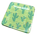 Festive Multi Desert Cacti Plants Square Appetizer Dessert Party Paper Plates 16 Count