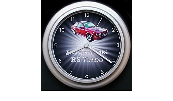 Ford Escort Mk4 RS Turbo starburst coche reloj de pared: Amazon.es: Hogar