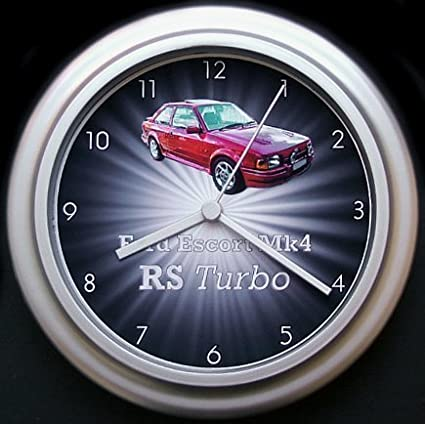 Ford Escort Mk4 RS Turbo starburst coche reloj de pared