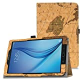 MoKo Samsung Galaxy Tab E 9.6 Case - Slim Folding Cover for Samsung Galaxy Tab E Wi-Fi / Tab E Nook 9.6-Inch Tablet Verizon 4G LTE Version, Map H (NOT FIT Tab E 8.0 inch Tablet)