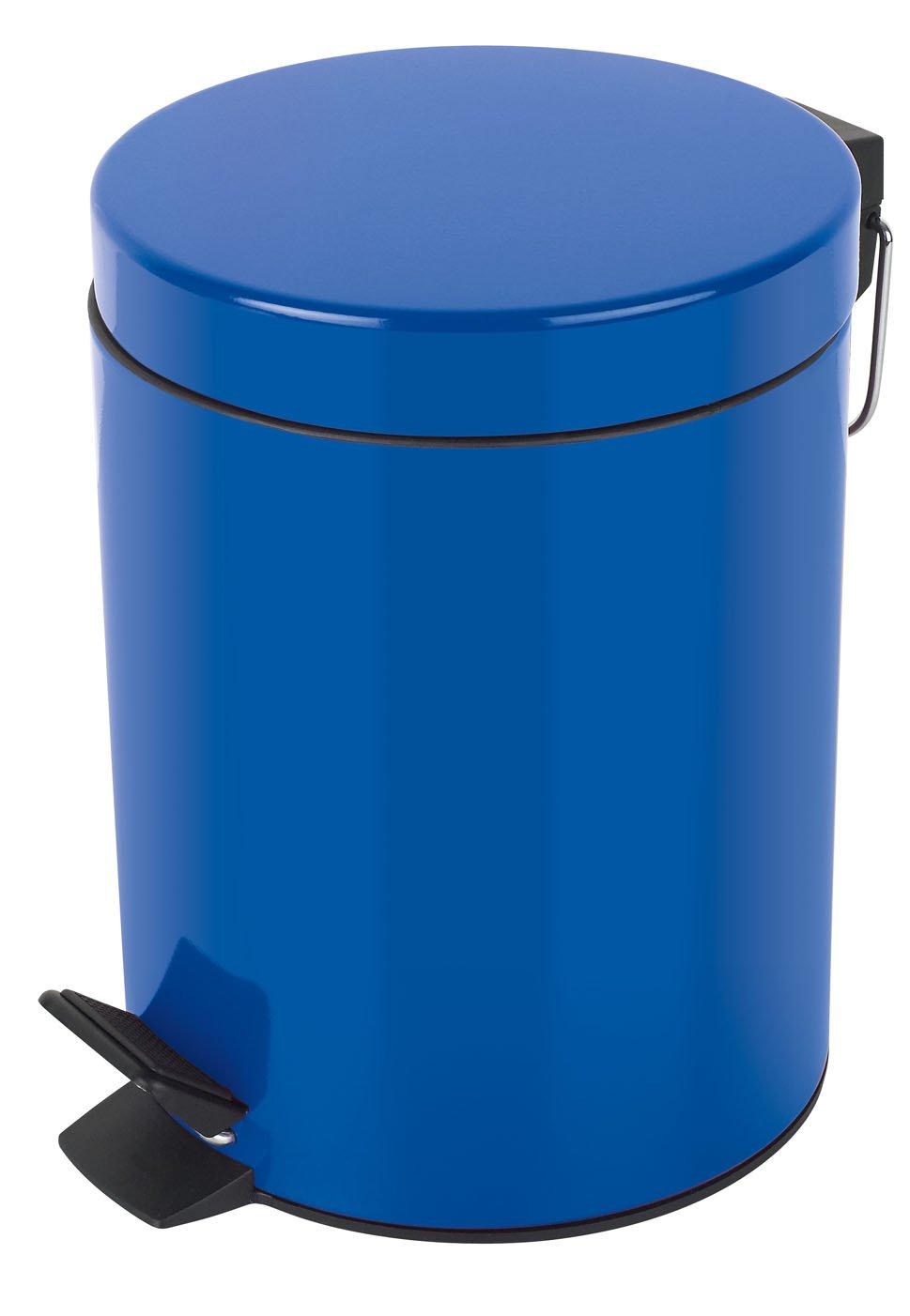 Azul 5 litros Papelera con Pedal /Ø20 x 27 cm Metal Spirella colecci/ón Sydney