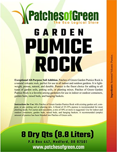 Patches of Green VOLCANIC GARDEN PUMICE ROCK from 8 Dry Quarts Bag by Patches of Green