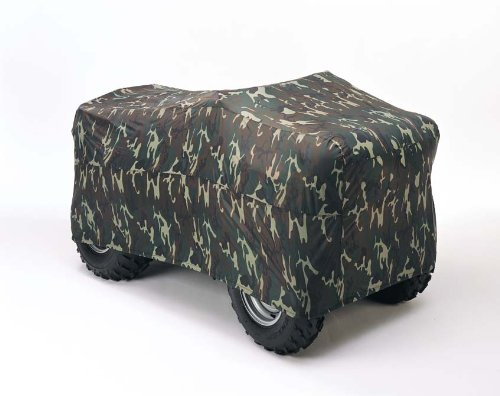 Dowco Guardian 26018-00 Indoor/Outdoor Water Resistant Reflective ATV Cover: Camo, X-Large (Lee Designs Troy Shoei)