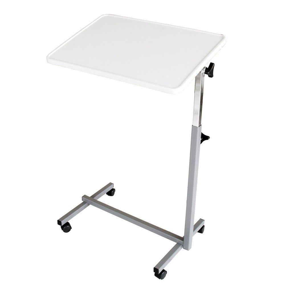 Tavolino pieghevole a rotelle | Tavolino per letto o divano | Colore: grigio perla Queraltó