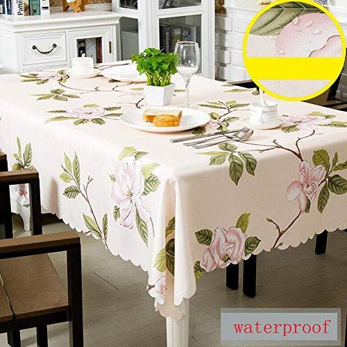 ZHAS Nappe de Maison en Plein air de Cuisine extérieure de Table effaçable de Table de Nappe effaçable de Polyester de Fibre de Polyester de décoration (Couleur  Rose, Taille  130  180cm)