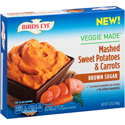 Birds Eye Steamfresh Veggie Made, Mashed Sweet Potatoes & Carrots with Brown Sugar, 12 Ounce (Frozen)