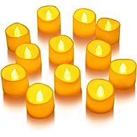 LUNSY Luces en forma de vela Luces de té LED sin llama Juego de luces de vela con pilas Decoración de la boda del…