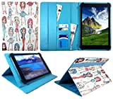 Sweet Tech ANOC 10.1 Inch Android Tablet Cute Girl Universal Wallet Case Cover Folio (10-11 inch)