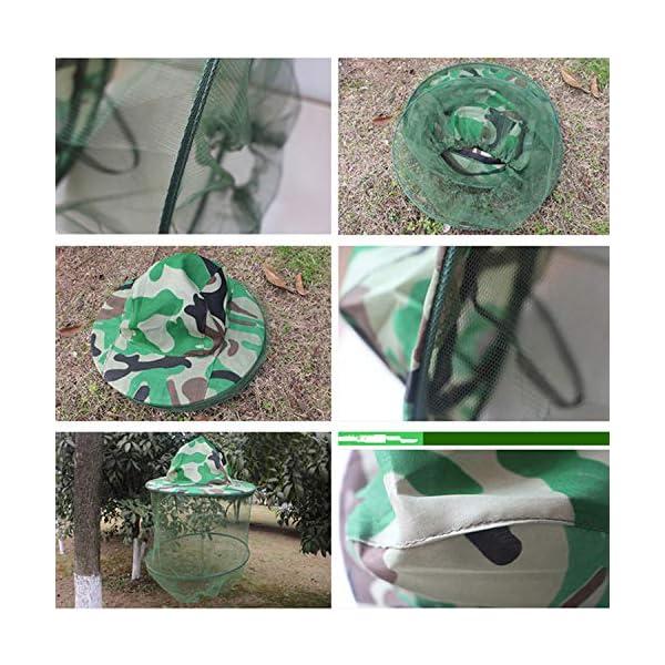 YouU 2 Pack Camouflage Apicoltura Apicoltore Anti-zanzara Ape Bug Insetto Fly Mask cap Hat con Testa Net Mesh Protezione… 5 spesavip