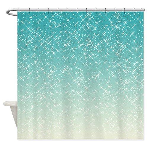 CafePress - Sparkling Aqua Sea - Decorative Fabric Shower Curtain (Shower Curtain With Sparkles)